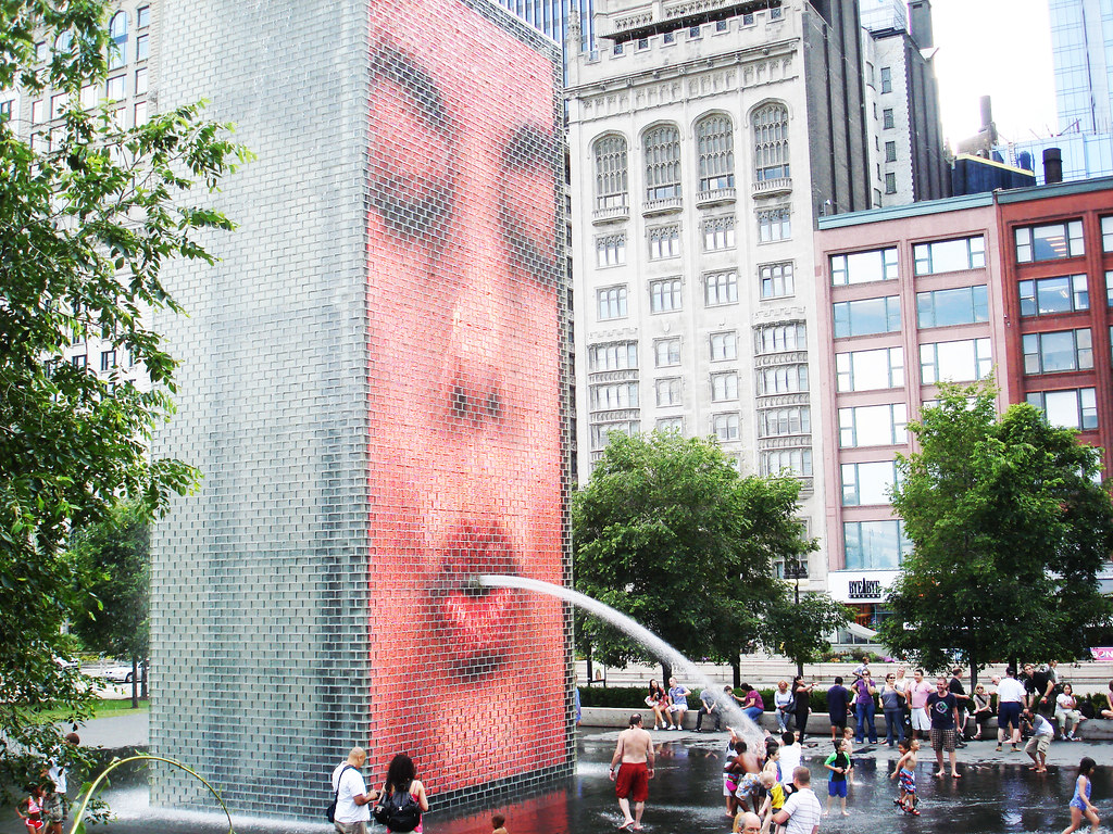 Crown Fountain, Millenium Park, Chicago