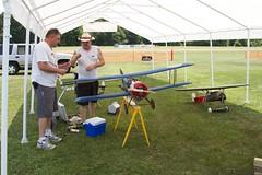 Assembling a Sopwith Pup at Warbirds Over Delaware 2012