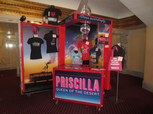 Priscilla, Queen of the Desert musical merchandising booth