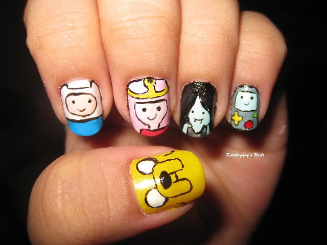 nail art design adventure time | Flickr - Photo Sharing!