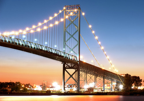 Ambassador Bridge, Detroit by Tony Shi.