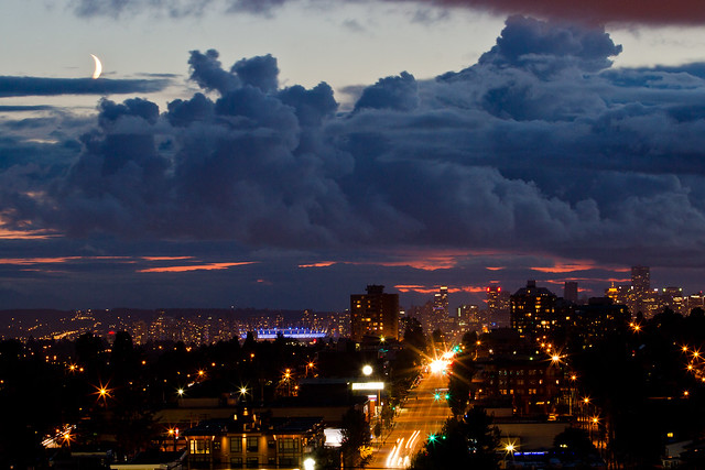 Vancouver In Turmoil on a  Summer's Night