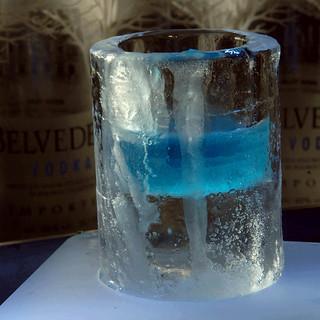 Vaso de hielo.