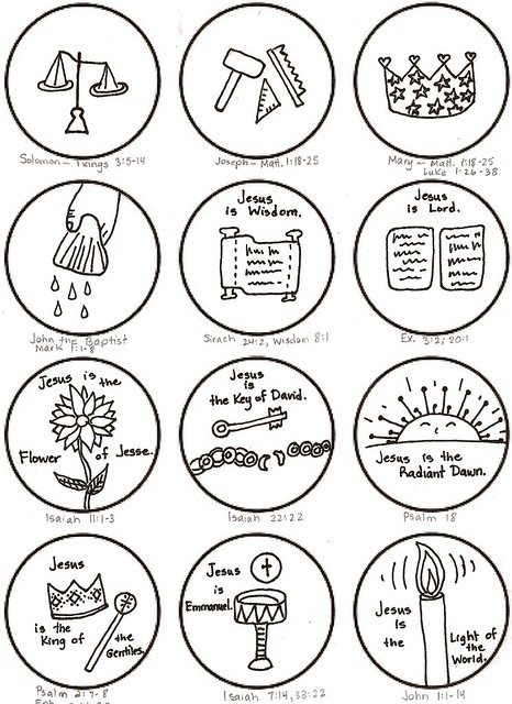jesse tree Colouring Pages
