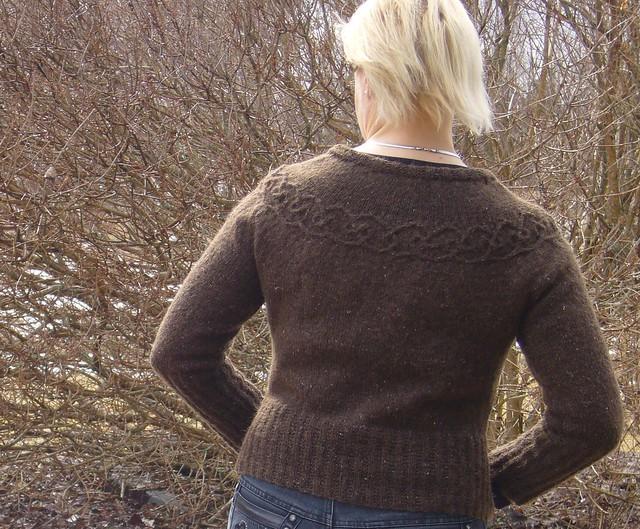 Tangled yoke cardigan Rowan felted tweed 013b