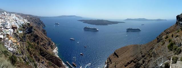 Santorini ships stitch