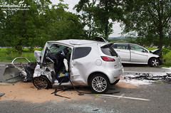 Schwerer Verkehrsunfall B42 Oestrich 06.08.12