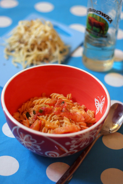 pasta mit vodka-tomaten