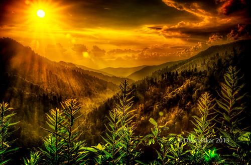 sunset sun mist mountains hdr smokymountains goldenhour