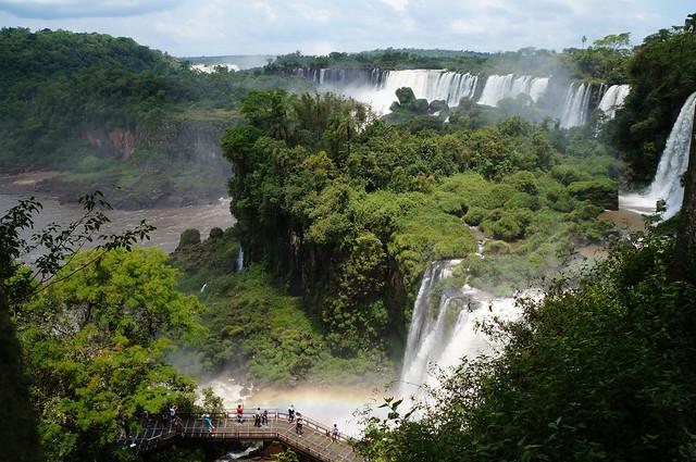 Circuito superior de las Cataratas del Iguazú.