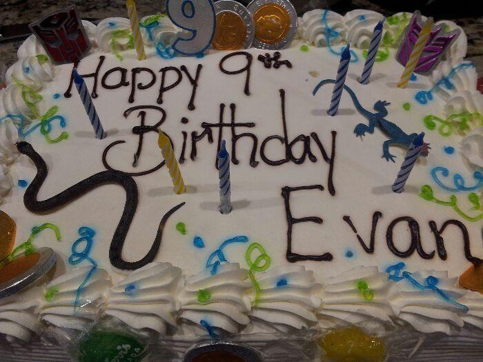 Evans birthday cake