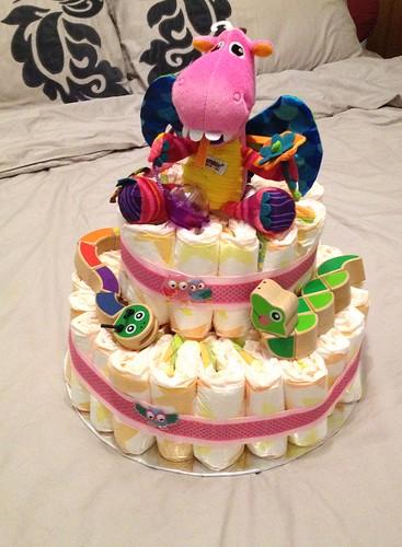 Andrea's diaper cake
