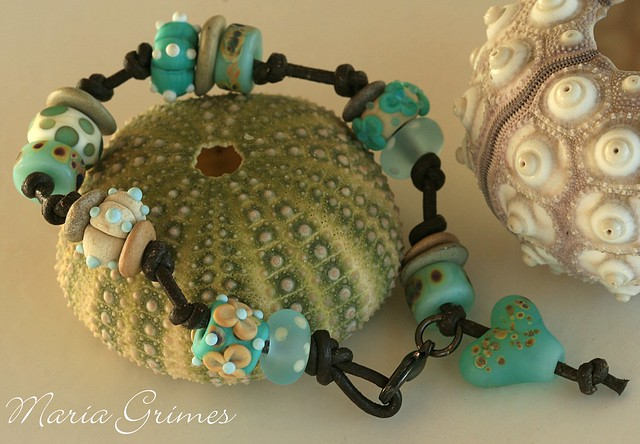 Sea Spray- Lampwork Bracelet