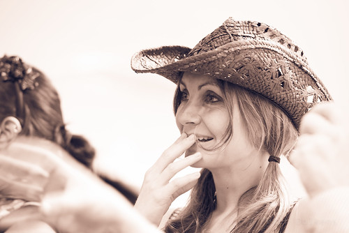 Smiling Cowgirl by Peter Dolkens