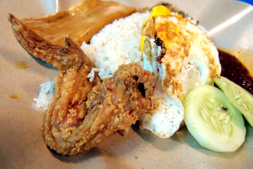 Boon Lay Power Nasi Lemak, chicken set (set B)