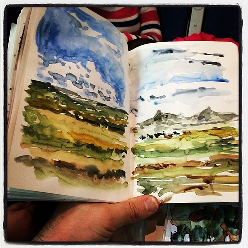 #train #watercolor #sketch h