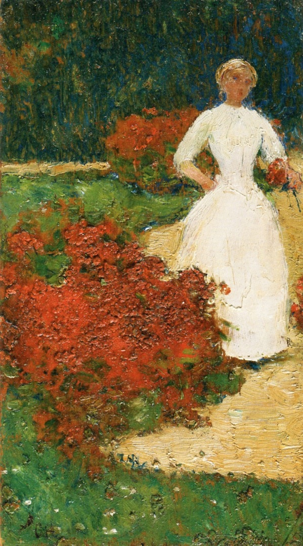 In the Luxembourg Gardens by Frederick Childe Hassam - 1888