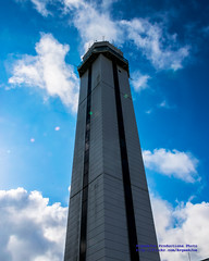 Looking Up at the KPAE Air Control Tower