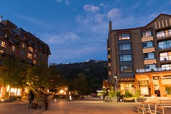 Mountain Plaza at dusk