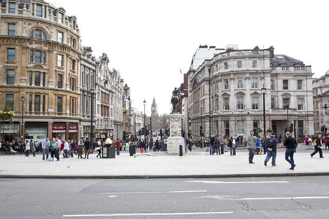 view from Trafalgar Square