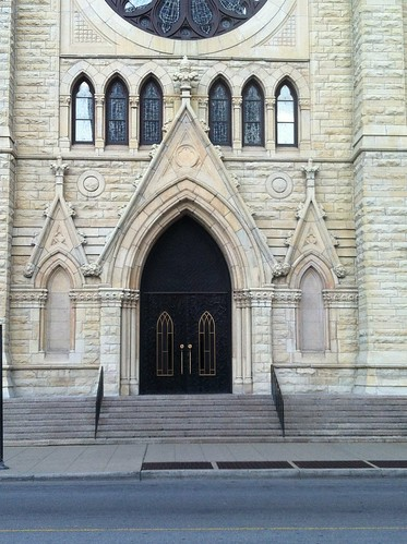 Portal of Holy Name Cathedral, Chicago - playful Gothic Revival by Michael Tinkler