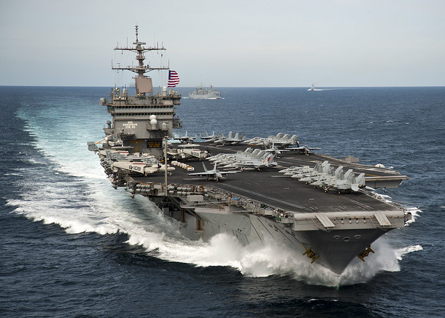 USS Enterprise is underway with the Enterprise Carrier ...