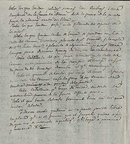 Plan de instalación de los puestos del mercado semanal según orden del Juzgado Municipal de Toledo en el siglo XIX. Archivo Municipal de Toledo