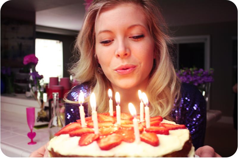 {blow out the candles}