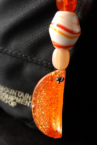 Orange Slice Zipper Pull