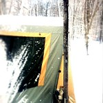 薪ストーブの煙突はこんな感じの図。