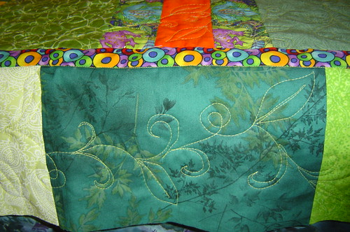 Swirly vines & leaves quilting (close-up) by basketcasejoy