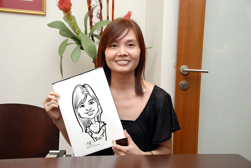 Caricature live sketching for Marks & Clerk Singapore LLP Christmas Party - 3