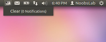 Ubuntu recent notification indicator