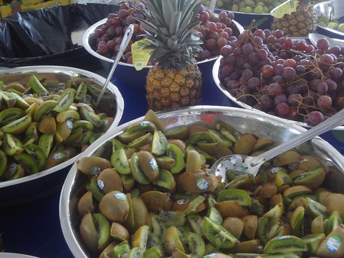 Tons of Fruit in the WWOZ Hospitality Tent. photo Suzy Moran