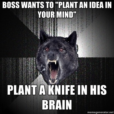 insanity wolf plant a knife