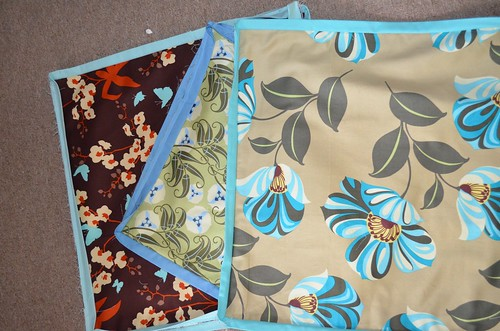 Cushion covers waiting for binding