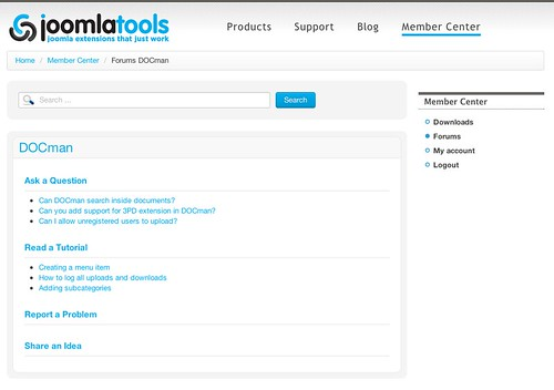 Joomlatools Support Forums