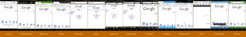 Google rendered on a ton of Android browsers