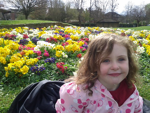 Lydia and spring flowers