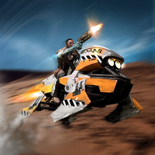Jet Bike2 - RIDE, DIE & FLY IN STARHAWK!