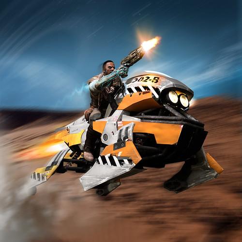 Jet Bike2 - RIDE, DIE & FLY IN STARHAWK!