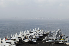 CHENNAI, India (April 7, 2012) The aircraft carrier USS Carl Vinson (CVN 70) prepares to anchors off the coast of Chennai for a port visit. (U.S. Navy photo by Mass Communication Specialist Seaman Dean M. Cates)