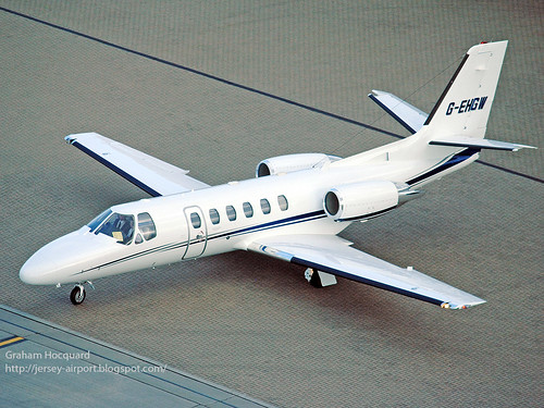 G-EHGW Cessna 550 Citation Bravo by Jersey Airport Photography