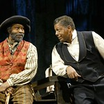 Anthony Chisholm (as Solly Two Kings) and Eugene Lee (as Eli) in the Huntington Theatre Company's production of August Wilson's