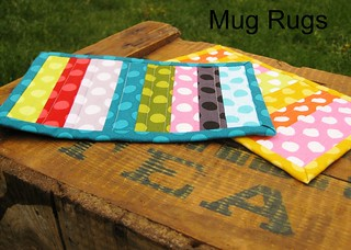 Pair of mug rugs