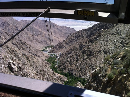 view from the aerial tramway