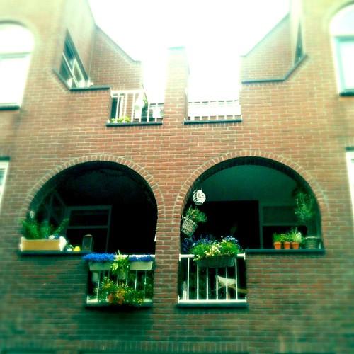 Two cute balconies