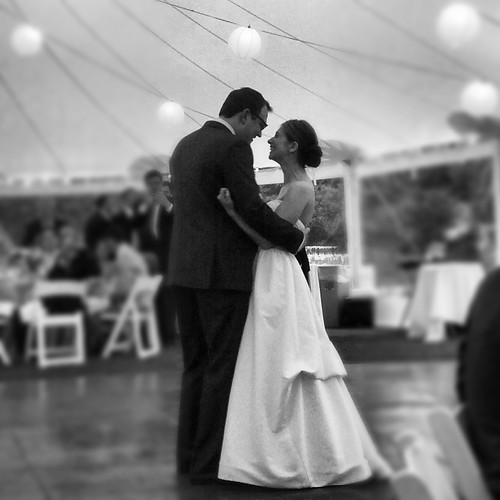 during our first dance