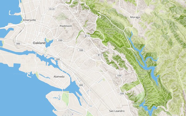 Preview of MapBox Streets Terrain