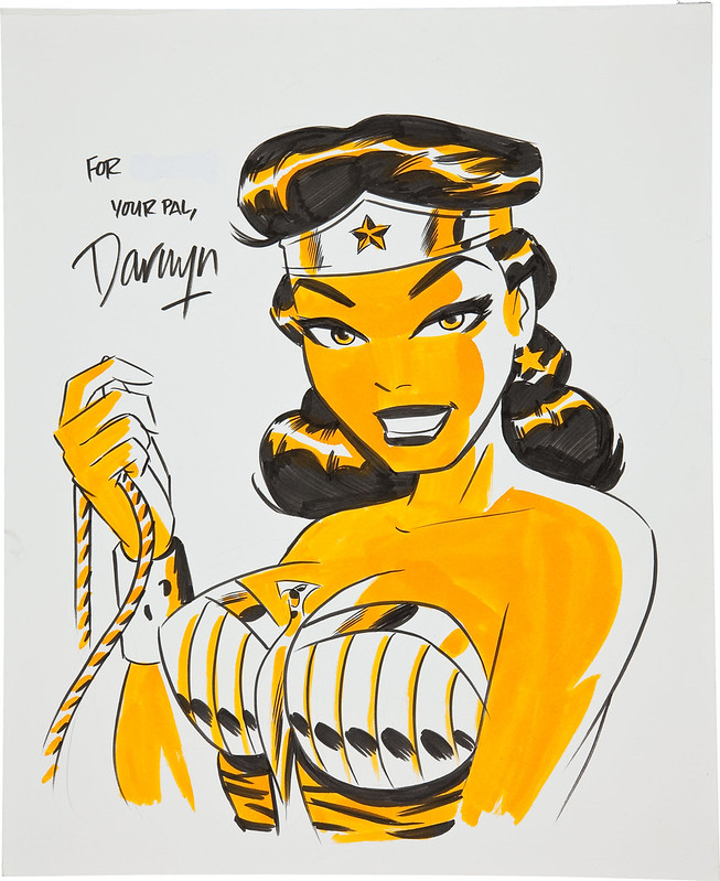 Darwyn Cooke Wonder Woman Illustration Original Art